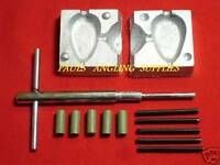 Carp Fishing Inline lead Mould Kit Flat Pear  2.5 oz