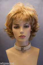 Strawberry Blonde with light Pale Blonde Highlight Red Short Wavy Wigs