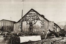 1925 Vintage CANADA ~ Indian House British Columbia Fort Rupert Architecture Art