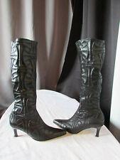 bottes chaussettes BOCAGE cuir synthétique noir pointure 36
