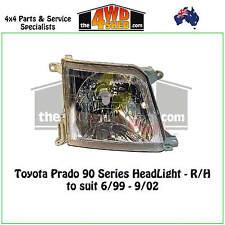 HEADLIGHT suits TOYOTA PRADO 90 SERIES R/H RIGHT DRIVER SIDE 1999-2002 ADR