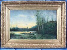 Intéressante Peinture Impressionniste de H. Boutiot en 1889