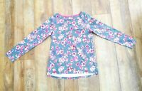 Joules Grey / Pink Floral Top / Blouse - Size 10