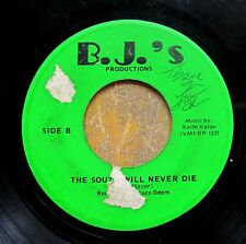 SIGNED C&W 45: BRUCE ODOM Because I Love You/The South Will Never Die (B.J.'s)