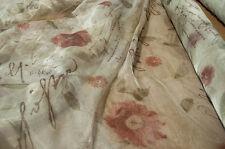 Scampoli di Tessuto in organza stampato con motivo floreale in stile Shabby Chic