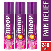 Moov Ayurvedic Pain Relief Spray 80g Each Pack of 3 Aerosols Free Ship