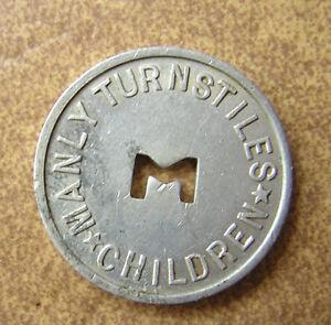 MANLY TURNSTILES CHILDRENS PJ & MSS Co Ltd TOKEN/COIN