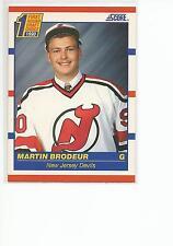 MARTIN BRODEUR 1990-91 Score ROOKIE card #439 New Jersey Devils NR MT