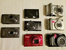 Lot Of 8 Assorted Canon Powershot/ Different Models/FOR REPAIRS OR PARTS ONLY