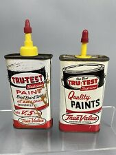 Vintage Oil Can Lot Tru Test True Value Household Tin Gift