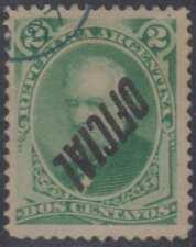 ARGENTINA 1884-87 OFFICIAL Sc O4 GJ 14c INVERTED OVERPRINT USED F,VF CV$100.00