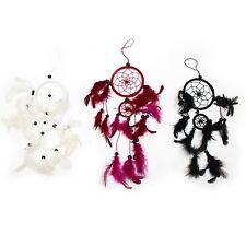 Attrape rêves dreamcatcher en plumes décoration ou forme coeur 13 couleurs