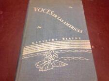 Voces De Las Americas Book 1 Henry Holt And Company HC 1947 Stanford University