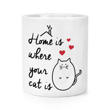Home Is Where Your Cat Is Maquillage Brosse CRAYON POT - Fou Coccinelle