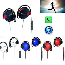 Extra Bass Sport Workout Gym Ear-hook Headphones with Mic For Mobile Phones Lot