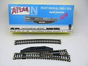 N Scale Atlas # 2583-1   Right  Manual Turnout Snap-Switch NOS