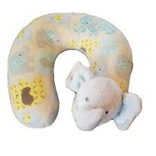 Blankets And Beyond Infant Neck Pillow Travel Pillow Blue Elephant
