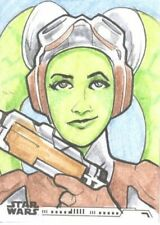 2020 Topps Women Of Star Wars Hera Syndulla Sketch Card By Jake Minor! UNIQUE!