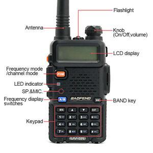 BAOFENG UV-5R Two Way Radio Dual-Band 70cm & 2 meter Interphone Walkie Talkie