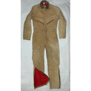 Vintage Walls Coveralls Adult Large Thermal Lined Blizzard Pruf Mens Brown