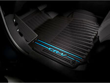Genuine OEM 2017 Honda CR-V Black/Blue All Season Floor Mat Set