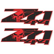 Z71 Punisher Edition Decals Stickers For Truck Red Black