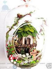 DIY Handcraft Miniature Dolls House LED Light Christmas Tree Decoration Gift