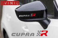 Siège Cupra R argent vinyle Symbole Miroir decals stickers Graphics x2
