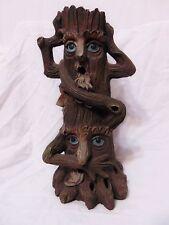 "Elegant Expressions Incense Burner Smoking Tree Wiccan Pagan ""Hear Speak See No"""