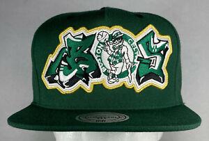 Mitchell and Ness NBA Boston Celtics Graffiti Snapback Hat, Cap, New