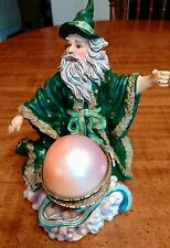Vintage Resin Wizard with Jewel in a Trinket Box, 8� Tall