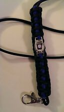 Police Thin Blue Line Lanyard; YOUR Custom Department Patch; Carroll County MD