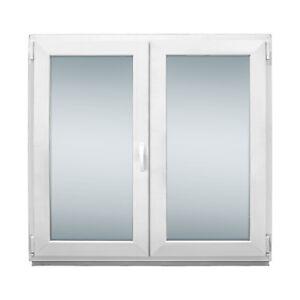 Fenster 2 fach BxH 1200x900 mm - 2-flügliges Stulpfenster außen Anthrazit