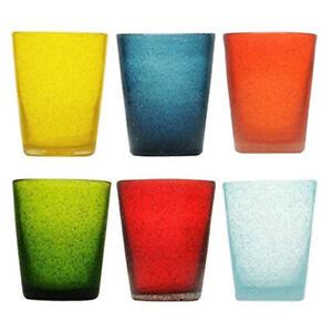 Memento set 6 bicchieri da acqua in vetro colorato