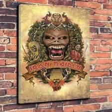 """Iron Maiden Eddie Crest Printed Canvas A1.30""""x20""""~Deep 30mm Frame Heavy Metal"""