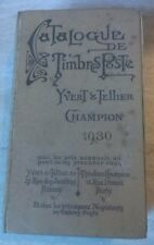 CATALOGUE DES TIMBRES POSTE 1930 - Yvert  Tellier - Champion