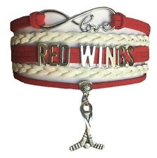 Detroit Red Wings Hockey Infinity Bracelet Jewelry Apparel
