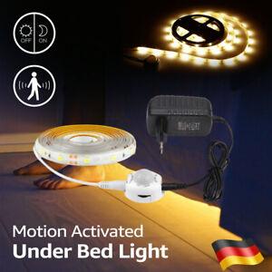 1-5 Meter LED Stripe mit PIR Bewegungsmelder Streifen Band Lichtband Netzteil