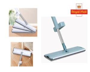 Easy Self-Wringing 360°Wet & Dry Flat Mop Hardwood Floor Dust Cleaning