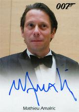 James Bond 007 Classics Autograph Card Mathieu Amalric as Dominic Greene