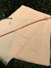 """New W/O Tags Lightweight Pink Burberry Wool Scarf Check Plaid 16"""" X 57"""""""