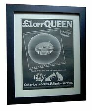 QUEEN+Jazz+POSTER+AD+RARE ORIGINAL 1978+TOP QUALITY FRAMED+EXPRESS GLOBAL SHIP