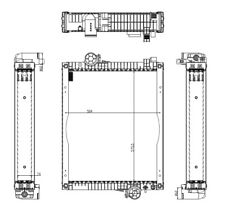 Kühler/Wasserkühler John Deere 6000-Serie, AL115004, AL118572, AL79036 Neu !
