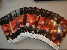 Full set of Southampton home programmes 2004-05 - 23 programmes in all