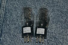 Perfectly Matched Pair Raytheon 71A Vacuum Tubes Engraved Base Test @NOS Levels