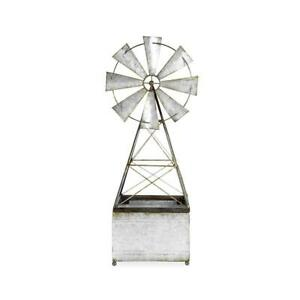 Galvanised Windmill Planter