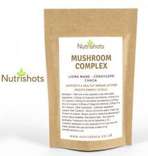 Nutrishots Mushroom Complex / Cordyceps / Chaga / Lions Mane