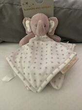 Blankets & Beyond Elephant Pink Gray Plush Baby Blanket Security Pink Star Lovey