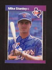 Mike Stanley--Autographed 1989 Donruss Baseball Card--Texas Rangers