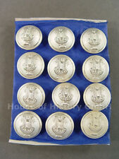 12 Knöpfe LYRA, 23mm, versilbert, Musiker, Militärmusiker, Uniform, um 1910, S2